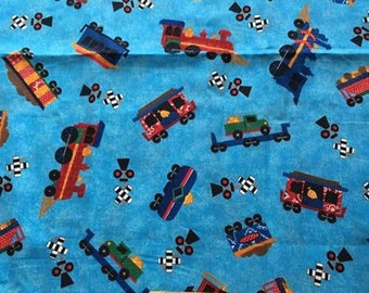 Choo Choo Steam engine children cartoon train, Thomas Quilting cotton, quilt fabric, cotton fabric, by the yard, 100% cotton, sewing,