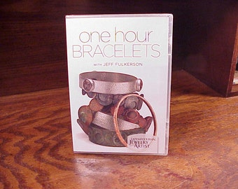 One Hour Bracelets DVD with Jeff Fulkerson, New and Sealed, Jewelry Making Techniques, How Tos, Instructions, Lessons, 7 Projects, Tricks