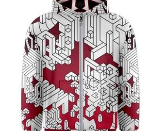 Zip-up hoodie - Interdimensional (Red)