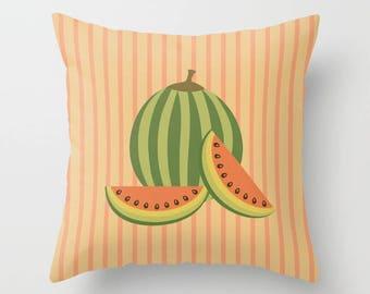 Watermelon Throw Pillow - Watermelon Pillow - Decorative Pillow - Tropical fruit Pillow - Decorative cushion  - Watermelon Cushion