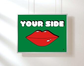 pop art print lip pop art glam lips Bedroom Art, Retro Print, Kids Room Decor, Kids Room Print, Kids Room Art Wall Art Pop Art Lips