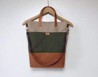 Tote bag,Bags and purses, Urban bag,Woman bag,Canvas bag,Woman laptop bag, Bag with pockets,Shoulder bag,brown bag,Woman bag,City bag,