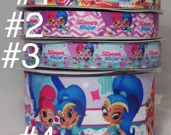 Shimmer and Shine Grosgrain Ribbon, Hair bow Ribbon