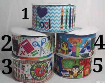 "3"" Back To SchoolGrosgrain Ribbon"