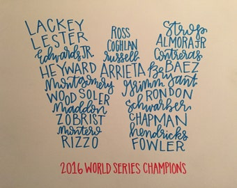 Chicago Cubs World Series Roster