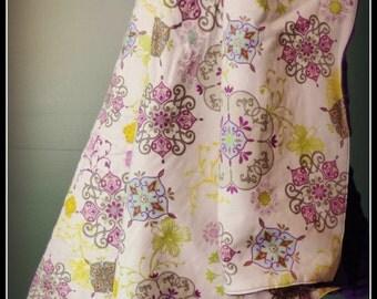 Spring Surprise Floral Minky Stroller Blanket, Minky Stroller Blanket, Stroller Blanket for Girls