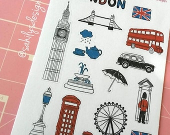 50% OFF 17 London Landmarks stickers