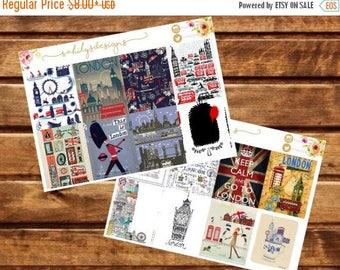 50% OFF 16 LONDON theme stickers