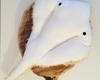 Stingray Pillow, Manta Ray Pillow, Ocean Deco