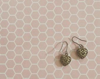 hollow heart earrings
