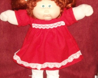 Cabbage Patch red flannel nightgown