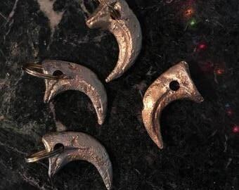 Velociraptor Claw Brass Keyring