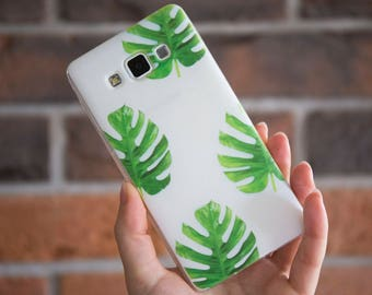 Botanical Case, Floral Case, Monstera Case, I Phone Case, Samsung Case, I phone 7 botanical case, I phone 7, 6s, 6, 5 case