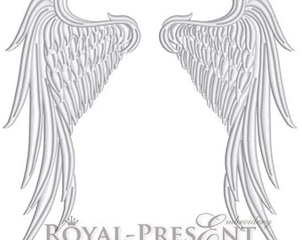 Machine Embroidery Design Angel Wings - 4 sizes