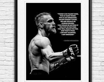 Conor Mcgregor UFC Quote Poster
