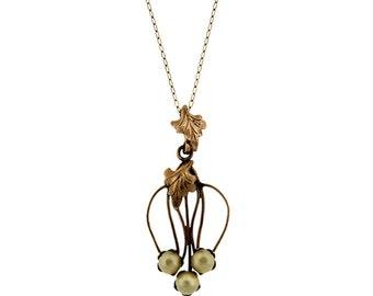 Vintage / Estate Gold Filled Pearl Pendant Necklace