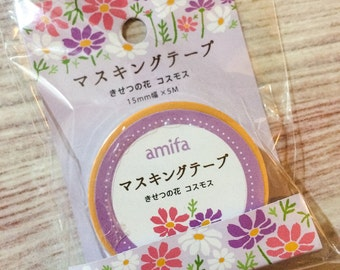 Cosmos Flower Washi Tape from Japan