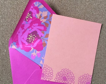 Embossed notecard set