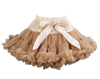 Toasted Almond Pettiskirt, Little Girl, Toddler, Big Girl - Sizes XS, S and M