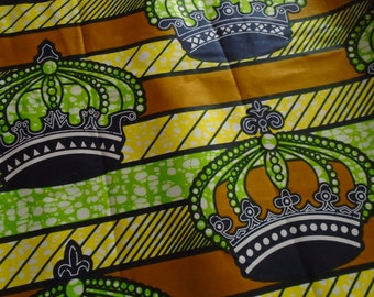 African Wax Print Fabric - by the Half Yard