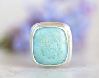 Larimar Pendant, Blue Larimar and Silver Pendant, Light Blue Gemstone Necklace