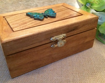 Jewelry Box with Butterfly Mosaic