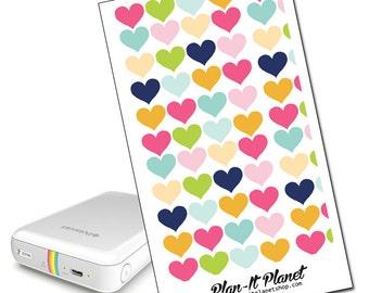 Colorful Hearts Zip Mobile Printer Skin