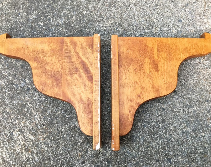 rustic shelf brackets 1 pair mini size unfinished log