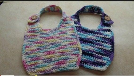 Easy Crochet Cotton Baby Bib Pattern DIGITAL DOWNLOAD ONLY