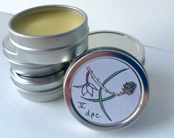 V anchor balm, beeswax, shea butter, jojoba oil, deep, grounding