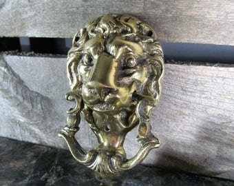Brass Lion, Door Knocker, Large Cast Lion, Solid Knocker, A Proud And