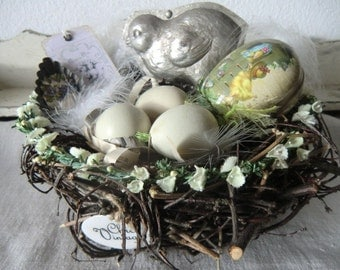 Easter sticks nest Easter nest nature decorated natural Easternest handmade with love
