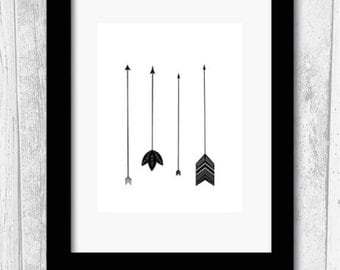 A4 arrows print boho wall art