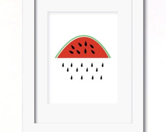 A4 watermelon days print