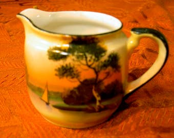 Noritake sunset lake small pitcher