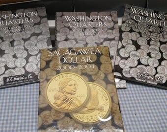 Harris & Co. Coin books Washington State Collection Quarters books-set of 4 books