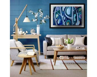 Abstract Wood's Series Trees oil painting on canvas colorful forest crazy trees oil on canvas modern contemporary wall decorative art b048