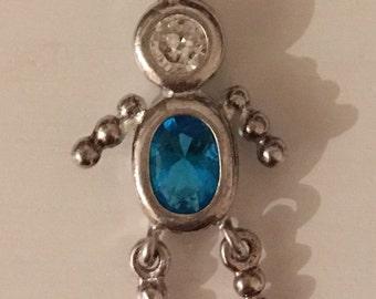 Sterling Silver Figure Pendant