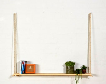 Reclaimed Pallet Wood Hanging Shelf Handmade/Shelves/Rustic/Furniture