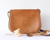 Vintage Leather Bag, Small Saddle Bag, Leather Boho Bohemian Bag, Vintage Leather Crossbody Bag