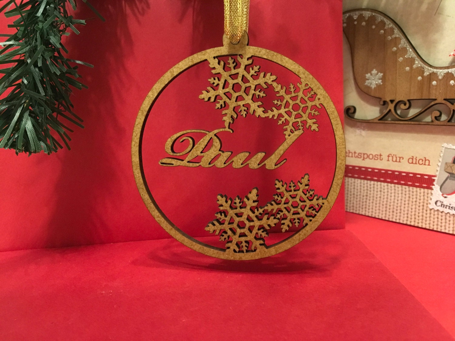Personalized name ornaments -  3 90
