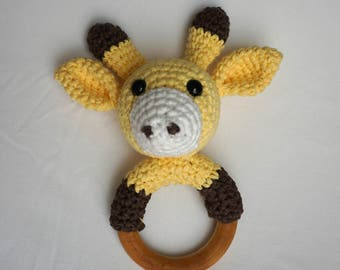 Amigurumi Giraffe Teether