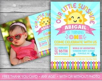 Little Sunshine Invitation   You Are My Sunshine Invitation   First Birthday Invitation   Sunshine Birthday Invite - My Sunshine Girl Invite
