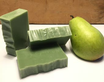 Green Tea & White Pear Cold Process Soap
