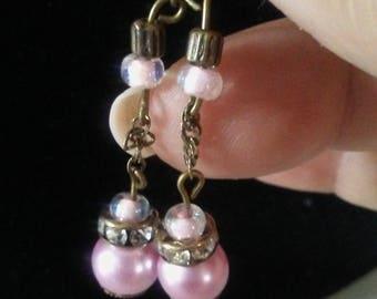 Pink dangled earrings
