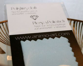 Clean the jewelry polishing cloth, jewelry cleaning, jewelry, jewelry care, jewelry care cloth, jewelry care, accrued to clean jewelry