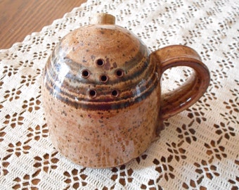 Handmade Sugar Shaker- Wheel thrown pottery