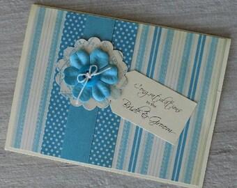 Homemade Wedding Card, Wedding Congratulations, Handcrafted Bride & Groom Card, Wedding Shower, Bridal Shower, Engagement, Card for Wedding
