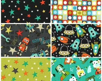 Bot Boy Fat Quarter Bundle - 6 prints