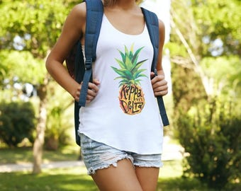 Kappa Delta Muscle Cotton Modal Pineapple Tank Top